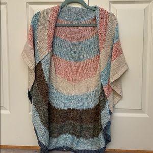 NWOT CAbi Knit Short Sleeve Cardigan Size S
